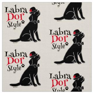 Labrador negro elegante telas