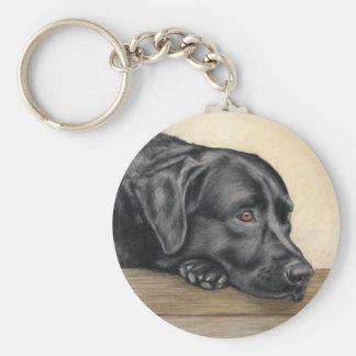 Labrador negro llavero redondo tipo pin