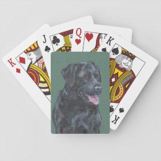 Labrador negro naipes