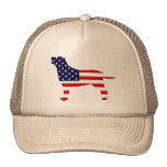 Labrador Outline in Stars and Stripes Hats