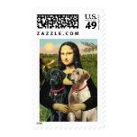 Labrador pair (B+Y) - Mona Lisa Postage