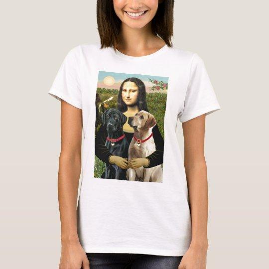 Labrador pair (B+Y) - Mona Lisa T-Shirt