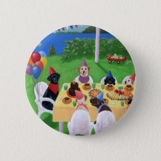 Labrador Party Button