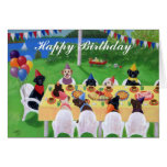 Labrador Party Painting Birthday Card