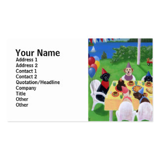 Labrador Party Painting Business Card Template