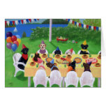 Labrador Party Painting Thank You Card