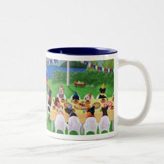 Labrador Party Painting Two-Tone Coffee Mug
