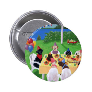 Labrador Party Pinback Button