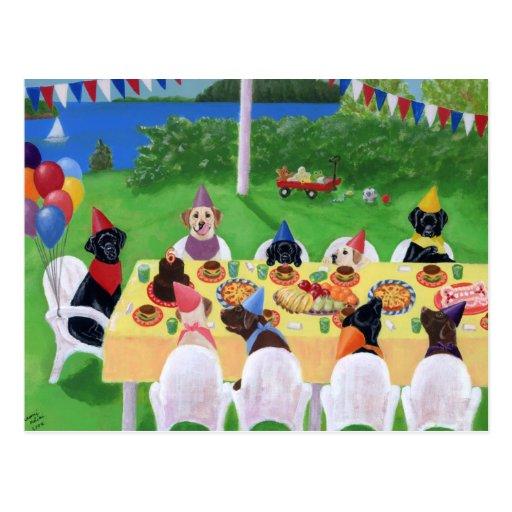Labrador Party Postcard