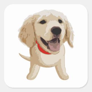 Labrador Pegatina Cuadrada