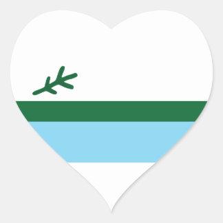 Labrador Pegatina En Forma De Corazón
