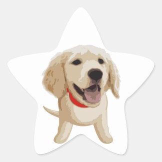 Labrador Pegatina En Forma De Estrella