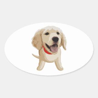 Labrador Pegatina Ovalada