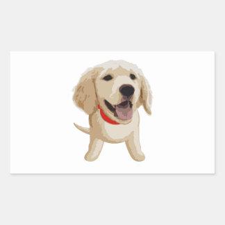 Labrador Pegatina Rectangular