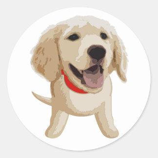 Labrador Pegatina Redonda