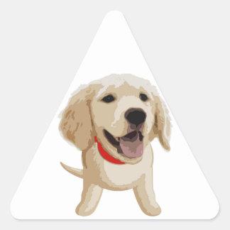 Labrador Pegatina Triangular