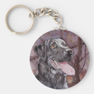 Labrador. Perro de arma Llavero Redondo Tipo Pin