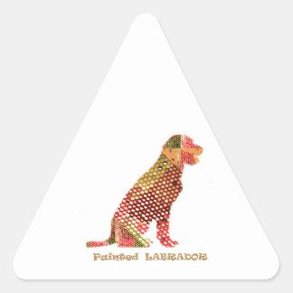 LABRADOR: Perro elegante majestuoso Pegatina Triangular