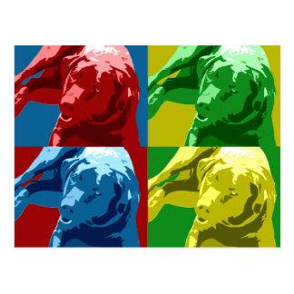 Labrador pop art effect! postcard