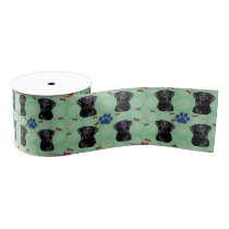 Labrador Portrait Grosgrain Ribbon