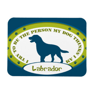 LABRADOR RECTANGULAR PHOTO MAGNET