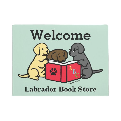 Labrador Puppies Book Lover Door Mat
