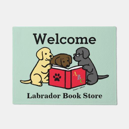 Labrador Puppies Book Lover Door Mat