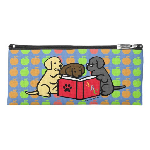 Labrador Puppies Book Lover Pencil Case