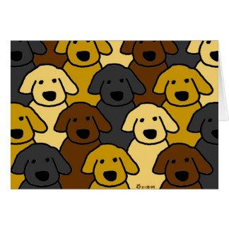 Labrador Puppies Card