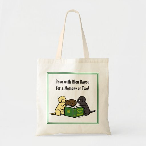 Labrador Puppies Reading Book Bag