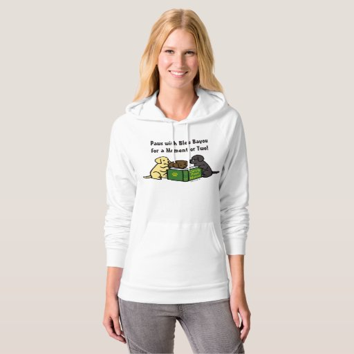 Labrador Puppies Reading Book Hoodie