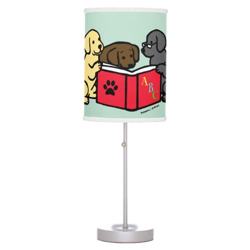 Labrador Puppies Reading Desk Lamp
