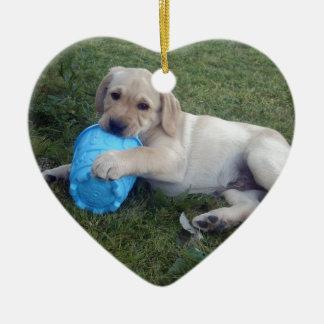 Labrador_Puppy,_ Ceramic Ornament