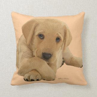 Labrador Puppy - Cushion Throw Throw Pillow
