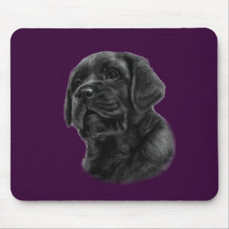 Labrador Puppy Drawing Mouse Pad