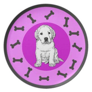 Labrador puppy melamine plate
