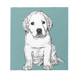Labrador puppy notepad