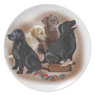 Labrador puppy plate