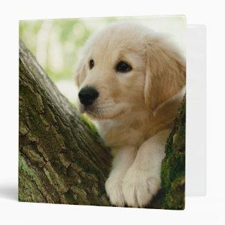 Labrador Puppy Sitting In A Woodland Setting Binder