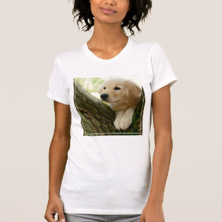 Labrador Puppy Sitting In A Woodland Setting T-Shirt