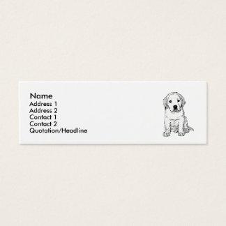 Labrador Puppy skinny business cards