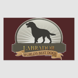 Labrador Rectangular Sticker