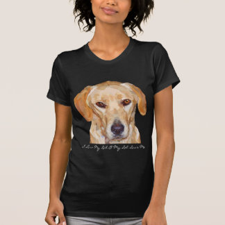 "Labrador ""Reggie"" Painting on Womans T-Shirt"