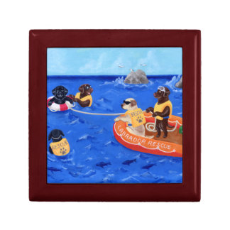 Labrador Rescue Team Painting Gift Box