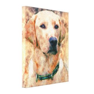 "Labrador Retreiver  8"" x 10"" Wrapped Canvas Canvas Print"
