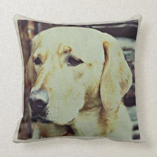 Labrador Retreiver Dog Tapestry Effect Big Throw Pillow
