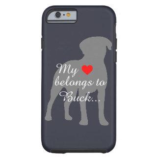 Labrador Retreiver mi corazón pertenece… al Funda Para iPhone 6 Tough