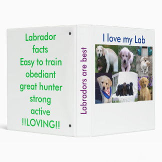 Labrador Retreviers Binder
