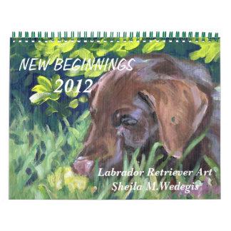 Labrador Retriever 2012 Art Calendar