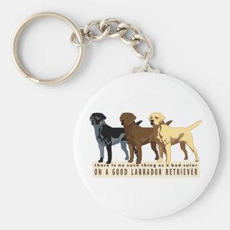 Labrador Retriever 3 colors Keychain